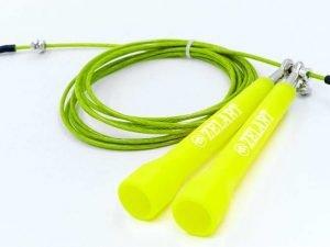 Скакалка скоростная Кроссфит с шарнирным подшипником и стальным тросом (l-2,75м, d-3мм) - Цвет Желтый