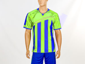 Футбольная форма Dinky (PL, р-р S-3XL-42-54, рост 160-190см, салатовый-синий, шорты синие) - S (42-44), рост 160-165