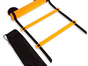Координационная лестница дорожка для тренировки скорости 10м (20 перекладин) (10мx0,52мx4мм цвета в ассортименте) - Цвет Желтый