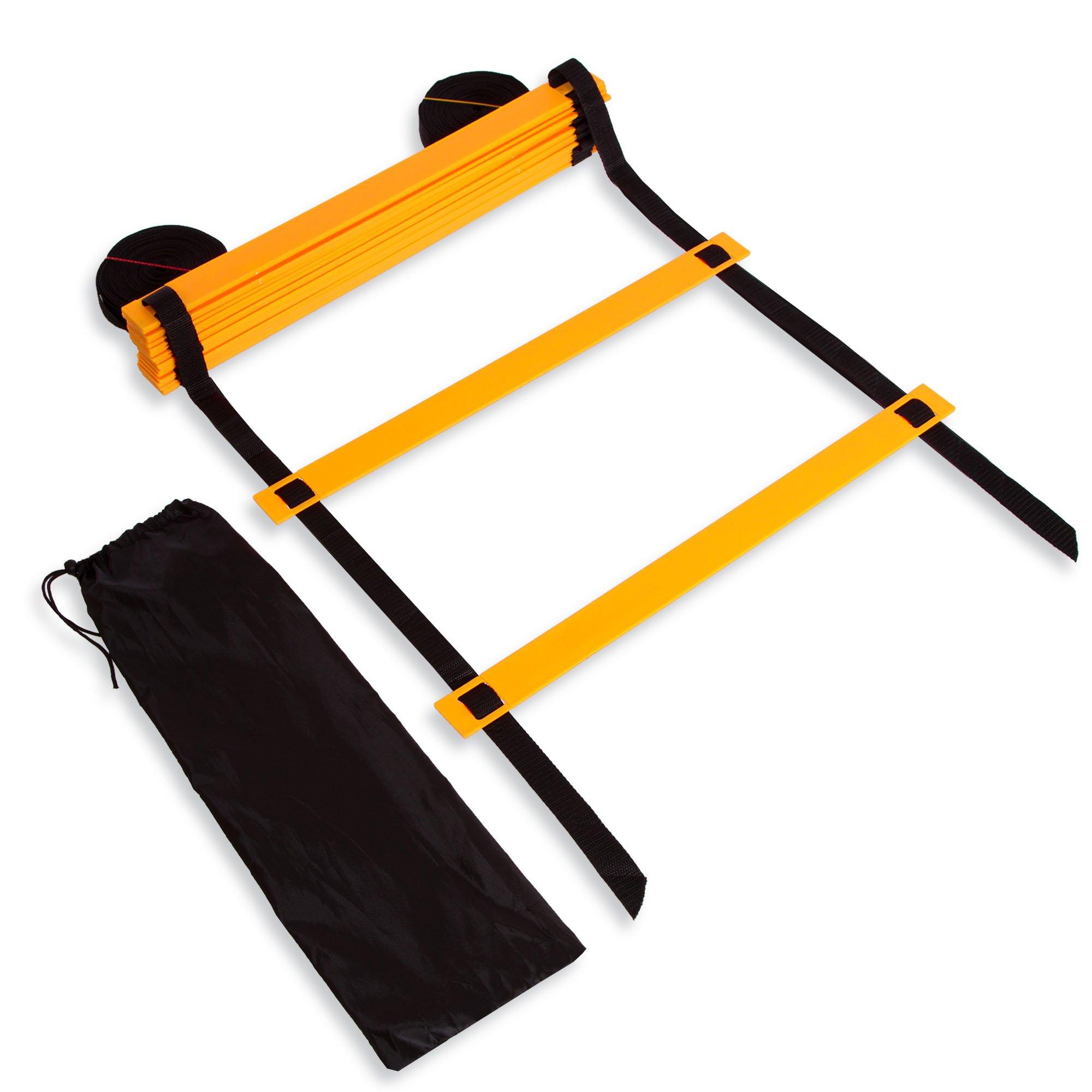 Координационная лестница дорожка для тренировки скорости 10м (20 перекладин) (10мx0,52мx4мм цвета в ассортименте)