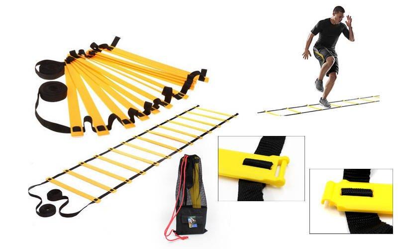 Координационная лестница дорожка для тренировки скорости 3м (6 перекладин) (р-р 3мx0,52мx4мм)