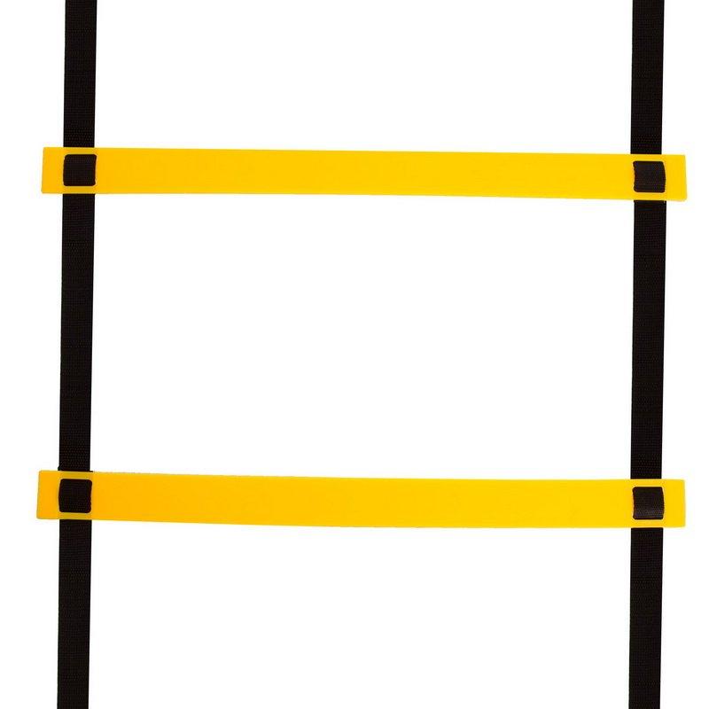 Координационная лестница дорожка для тренировки скорости 3м (6 перекладин) (р-р 3мx0,52мx4мм, черный-желтый)