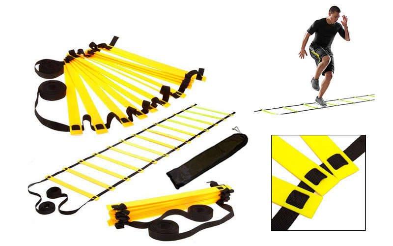 Координационная лестница дорожка для тренировки скорости 6м (12 перекладин) (6мx0,52мx4мм, цвета в ассортименте)