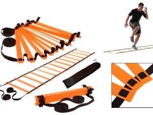 Координационная лестница дорожка для тренировки скорости 6м (12 перекладин) (6мx0,52мx4мм, цвета в ассортименте) - Цвет Оранжевый
