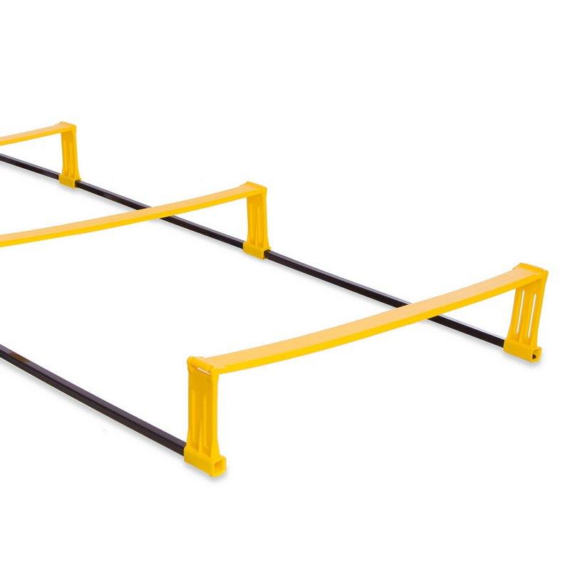Координационная лестница дорожка с барьерами 4,3м (12 перекладин) (р-р 4,3×0,5мх3,4мм)