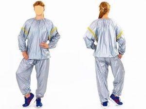 Костюм для похудения (весогонка) Sauna Suit (PVC, р-р L-3XL-50-58, серый) - 2XL (54-56)