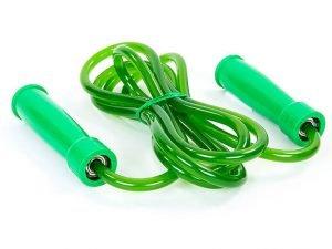 Скакалка для бокса TWINS (полиуретан, пластик, l-2,84м с ручками, с подшипником, цвета в ассортименте) - Цвет Зеленый