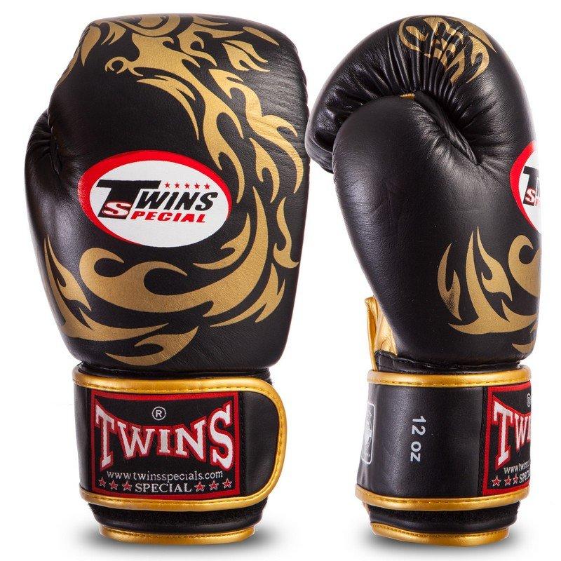 Перчатки боксерские кожаные на липучке TWNlica (р-р 10-16oz, цвета в ассортименте) 0270-S
