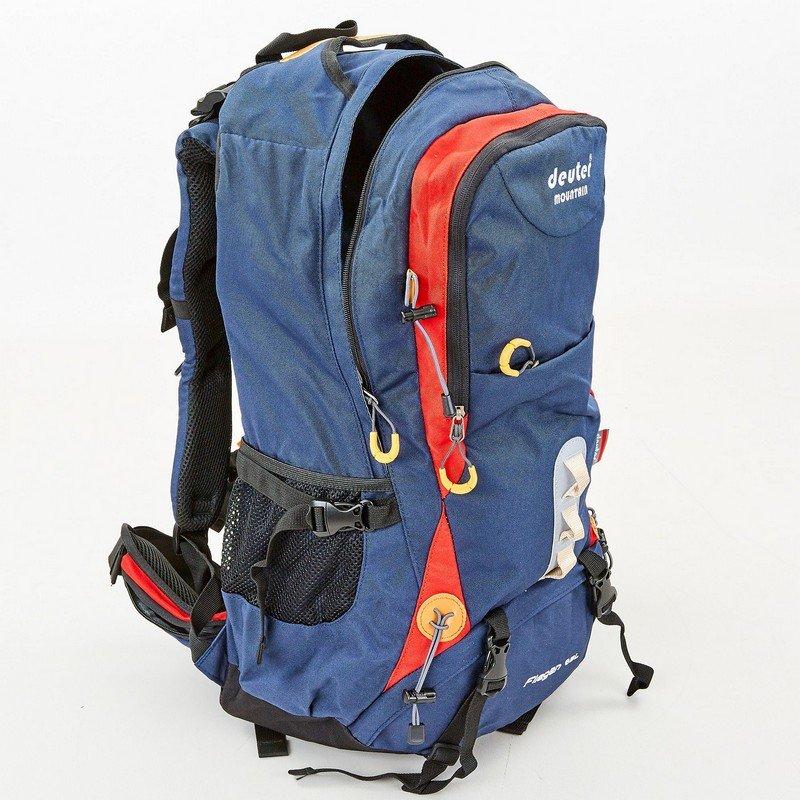 Рюкзак туристический с каркасной спинкой DTR 65 литров (полиэстер, нейлон, алюминий, размер 57x33x21см, с чехлом, цвета в ассортименте)
