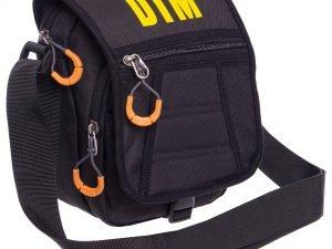 Сумка вертикальная маленькая через плечо DTM (полиэстер, р-р 15,5х19х9см, цвета в ассортименте) - Цвет Черный