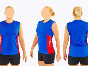 Форма волейбольная женская (полиэстер, р-р S-3XL-140-175см(40-68кг), синий) - 2XL, рост 165-170, 58-63кг