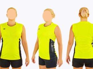 Форма волейбольная женская (полиэстер, р-р S-3XL-140-175см(40-68кг), желтый) - 2XL, рост 165-170, 58-63кг