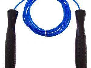 Скакалка скоростная с подшипником и стальным тросом SPEED ROPE (l-3м, d-3,8мм) - Цвет Синий