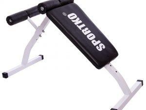 Скамья для пресса прямая SPORTKO (металл, PVC, р-р 109x51x69см, вес польз. до 110кг)