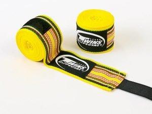 Бинты боксерские (2шт) хлопок TWINS (l-5м, цвета в ассортименте) - Цвет Желтый