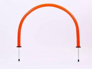 Арка тренировочная (1шт) (пластик, металл, h-35см, l-52см, оранжевый)