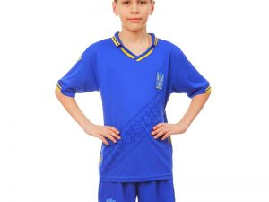 Форма футбольная детская УКРАИНА 2019 Sport (PL, р-р XS-XL, рост 116-165см, синий) - XL-30, рост 155-165