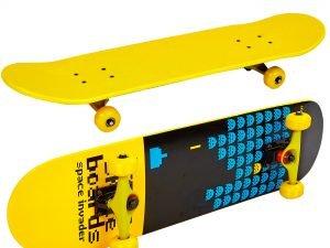 Скейтборд в сборе (роликовая доска) (колесо-PU, р-р деки 79х19х1см, АВЕС-7, цвета в ассортименте) - Цвет Желтый