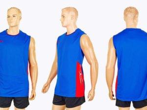 Форма волейбольная мужская (полиэстер, р-р M-4XL-155-185см(50-80кг), синий) - 2XL, рост 170-175, 65-70кг