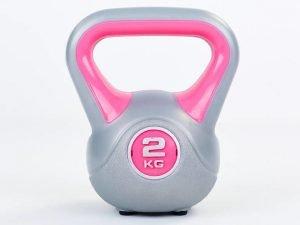 Гиря пластиковая TA-5734- 2 2кг (наполнение цемент, розовый)