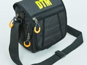 Сумка вертикальная средняя через плечо DTM (полиэстер, р-р 23х18,5х10см, цвета в ассортименте) - Цвет Черный