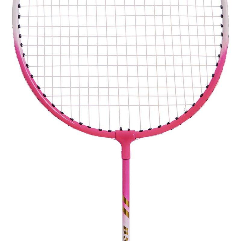 Набор для бадминтона 2 ракетки в чехле BOSHIKA (сталь, розовый, салатовый)
