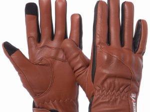 Мотоперчатки кожаные с закрытыми пальцами и протектором NERVE (р-р M-L, коричневый) - M