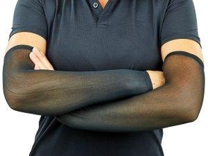 Нарукавники компрессионные (2шт пара) (полиэстер, цвета в ассортименте) - Цвет Черный