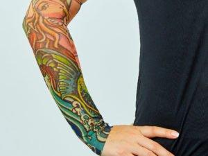 Нарукавники тату (2шт пара) нарукавники с татуировкой (полиэстер, цвета в ассортименте)