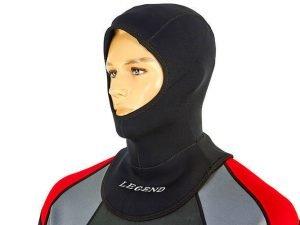 Шлем для дайвинга LEGEND (5мм неопрен, размер M-XL-55-63см, черный) - L (58-61см)