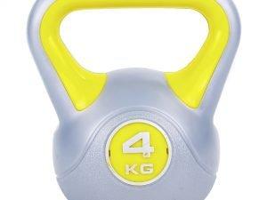 Гиря пластиковая TA-5734- 4 4кг (наполнение цемент, желтый)