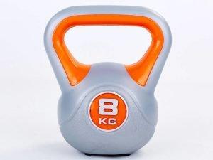 Гиря пластиковая TA-5734- 8 8кг (наполнение цемент, оранжевый)