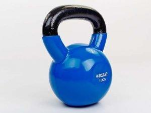 Гиря чугунная с виниловым покрытием ТА-5161-16 16кг (синий)