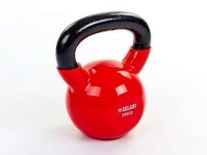 Гиря чугунная с виниловым покрытием ТА-5161-20 20кг (красный)