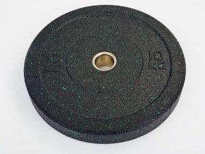 Бамперные диски для кроссфита Bumper Plates из структурной резины d-51мм RAGGY 10кг