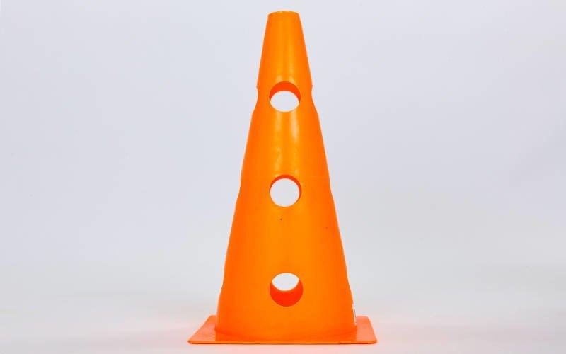 Фишка спортивная конус с отверстиями для штанги 32см С-6573 (пластик, 32см, цвета в ассортименте)