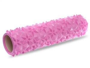 Роллер для занятий йогой и пилатесом Point Diamond Pattern l-45см (d-14см, цвета в ассортименте) - Цвет Розовый
