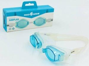 Очки для плавания MadWave SIMPLER (поликарбонат, силикон, цвета в ассортименте)