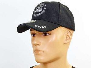 Бейсболка тактическая SWAT (хлопок, полиэстер, размер регулируемый, черный)