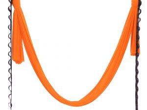 Гамак для йоги со стропами и креплением SP-Planeta Antigravity Yoga (полиэстер, р-р 280смх5м, цвета в ассортименте) - Цвет Оранжевый