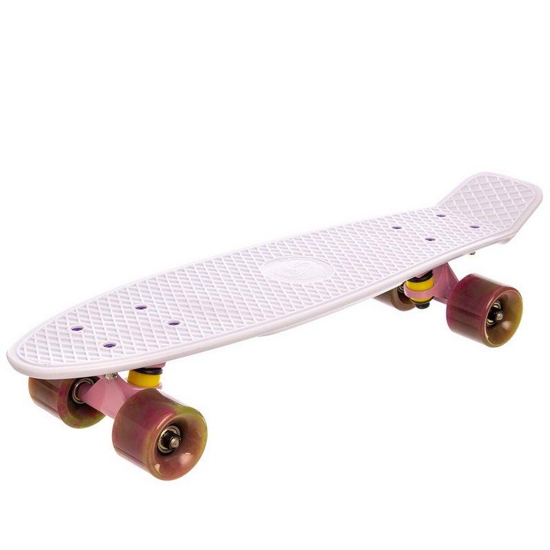 Скейтборд пластиковый Penny SWIRL FISH 22in  колесо мультиколор (бел-роз-зел)