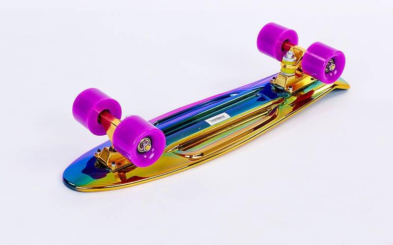 Скейтборд пластиковый Penny TONED MIXCOLOR 22in металлизированная дека (золотой-синий-роз)