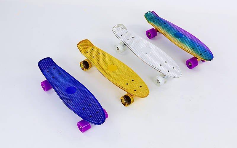 Скейтборд пластиковый Penny TONED VIOLET 22in металлизированная дека (фиолетовый)