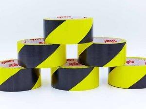 Скотч для разметки спортивных площадок (р-р 20мх4,8смх20мк, желтый-черный)