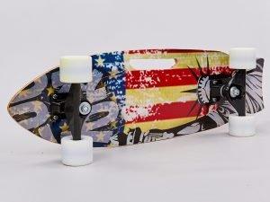 Скейтборд в сборе (роликовая доска) (колесо, р-р деки 68х21х1,2см, цвета в ассортименте)