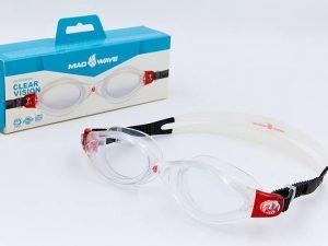 Очки для плавания MadWave CLEAR VISION (поликарбонат, силикон, цвета в ассортименте) - Цвет Красный