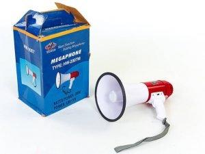 Громкоговоритель (пластик, d-20,5см, l-35,5см, 20W, бело-красный)