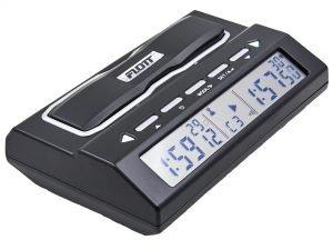 Часы шахматные электронные FLOTT (пластик, черный, серебро)