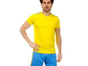 Футбольная форма (PL, р-р S-3XL-165-190см, желтый-синий) - XL, рост 180