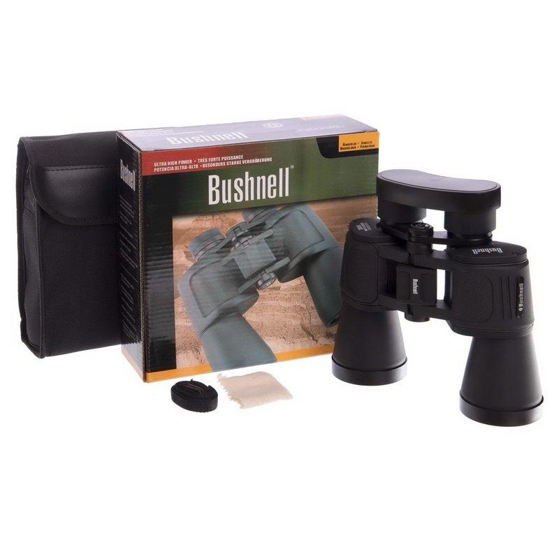 Бинокль BUSHNELL 20х50 (пластик, стекло, PVC-чехол, черный) AXT1138 Replika